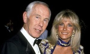 Johnny Carson and Alexis Maas