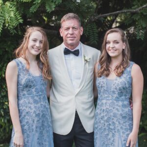 Troy Aikman and his daughters